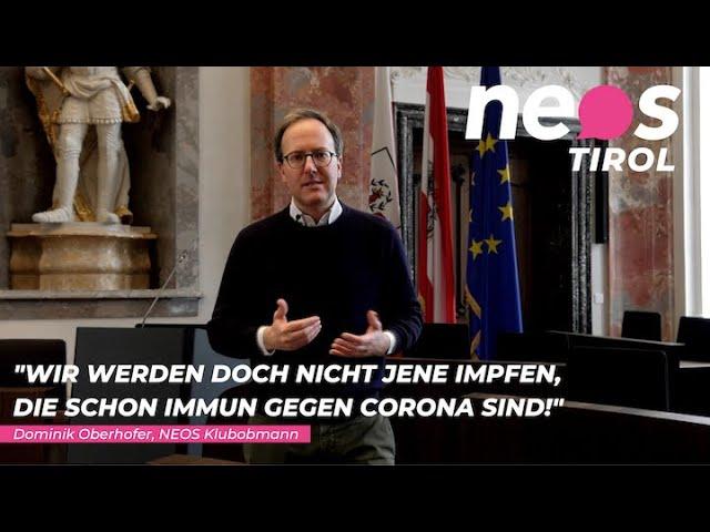 Dominik Oberhofer fordert Antikörpertests in Tirol